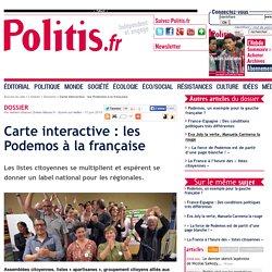 Carte interactive : les Podemos à la française