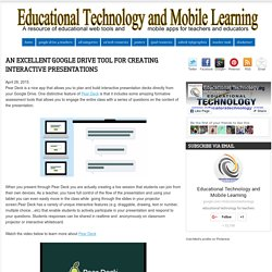 Educational Technology and Mobile Learning: An Excellent Google Drive Tool for Creating Interactive Presentations