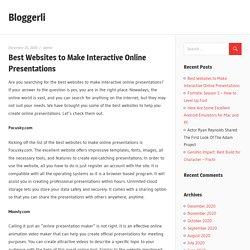 Best Websites to Make Interactive Online Presentations - Bloggerli