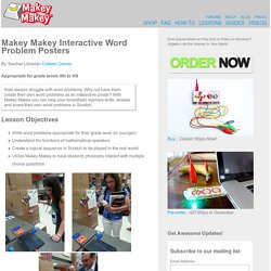 Makey Makey Interactive Word Problem Posters