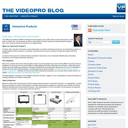 » Interactive Products - The Videopro Blog