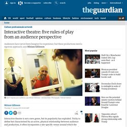 Interactive theatre: five rules of play from an audience perspective