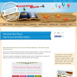 Interactive Read Aloud: How To Do It and Why It Works