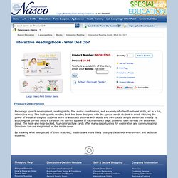 Interactive Reading Book - What Do I Do? ~ Interactive Reading ~ Books