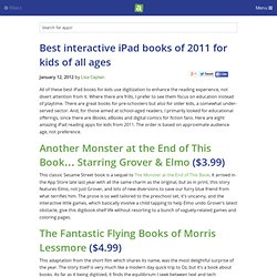 Best interactive iPad books of 2011 for kids of all ages - iPhone app recommendations - Lisa Caplan