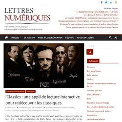 iClassics : une appli de lecture interactive pour redécouvrir les classiques