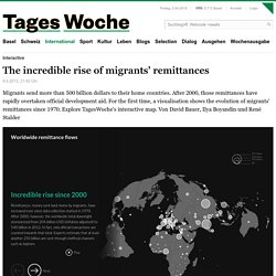 Interactive: The incredible rise of migrants' remittances dwarfs official aid worldwide