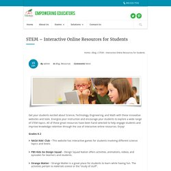 STEM – Interactive Online Resources for Students