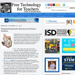 Virtual and Interactive Resources for Science Teachers