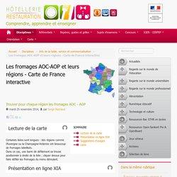 Les fromages AOC-AOP et leurs régions - Carte de France interactive