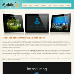 Crack the Books Interactive Science Books - Mobile Education Store