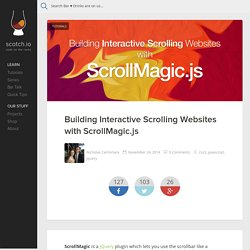 Building Interactive Scrolling Websites with ScrollMagic.js