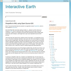 Interactive Earth: Shapefile to KML using Open Source GIS