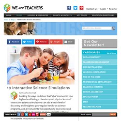 10 Interactive Science Simulations