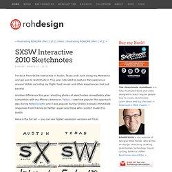 SXSW Interactive 2010Sketchnotes - Rohdesign