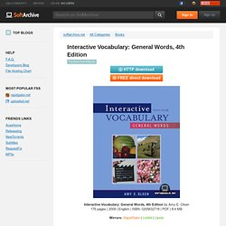 Interactive Vocabulary: General Words, 4th Edition