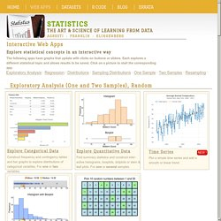Interactive web apps for exploring statistical concepts