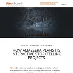 How AlJazeera plans its interactive storytelling projects