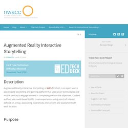 Augmented Reality Interactive Storytelling