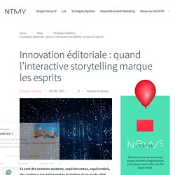 Innovation éditoriale et Interactive storytelling