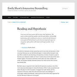 Reading and Hypothesis