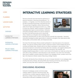 Interactive Learning Strategies