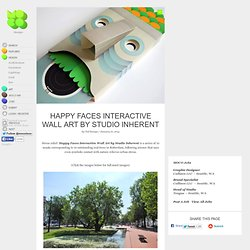 Happy Faces Interactive Wall Art by Studio Inherent
