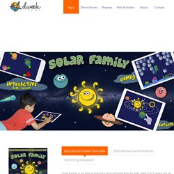 Interactive Solar System - App & Online Games for Kids