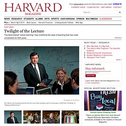 Eric Mazur on new interactive teaching techniques | Harvard Magazine Mar-Apr 2012
