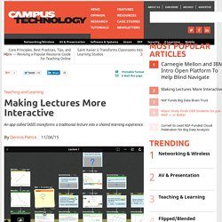 Making Lectures More Interactive