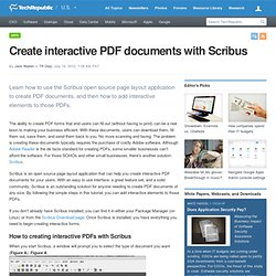 Create interactive PDF documents with Scribus