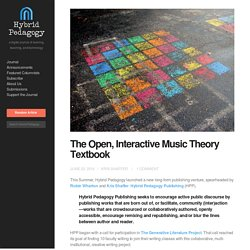 The Open, Interactive Music Theory Textbook
