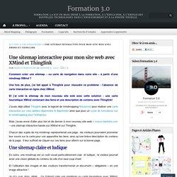 Une sitemap interactive pour mon site web avec XMind et Thinglink