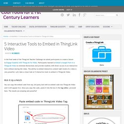 5 Interactive Tools to Embed in ThingLink Video