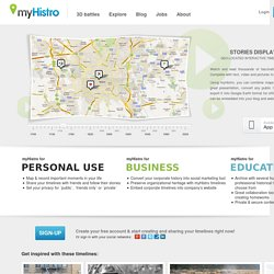 Create Free Interactive Timelines – Stories Displayed on Maps | myHistro