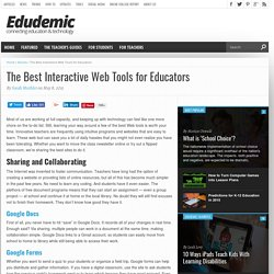 The Best Interactive Web Tools for Educators