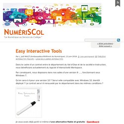 Easy Interactive Tools - NumériSCol