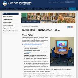 Interactive Touchscreen Table