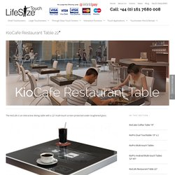 KioCafe Interactive Restaurant Table