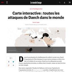 Carte interactive : toutes les attaques de Daech dans le monde