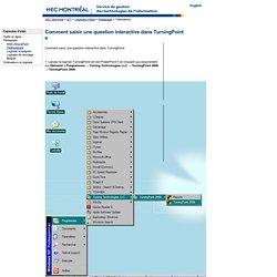 Comment saisir une question interactive dans TurningPoint