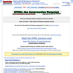HTML: An Interactive Tutorial - HTML Code Guide - Index