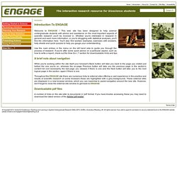Engage - The interactive research resource for bioscience undergraduates