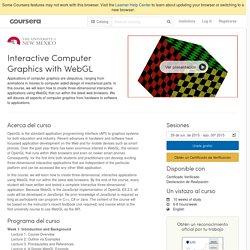 Interactive Computer Graphics with WebGL - Universidad de Nuevo México