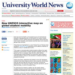 New UNESCO interactive map on global student mobility