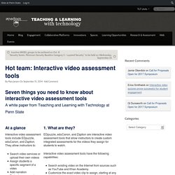 Hot team: Interactive video assessment tools