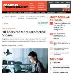 10 Tools for More Interactive Videos