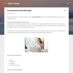 Live Interactive Virtual Workshops