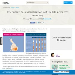 Interactive data visualisations of the UK's creative economy