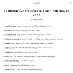 15 Interactive Websites to Teach You How to Code